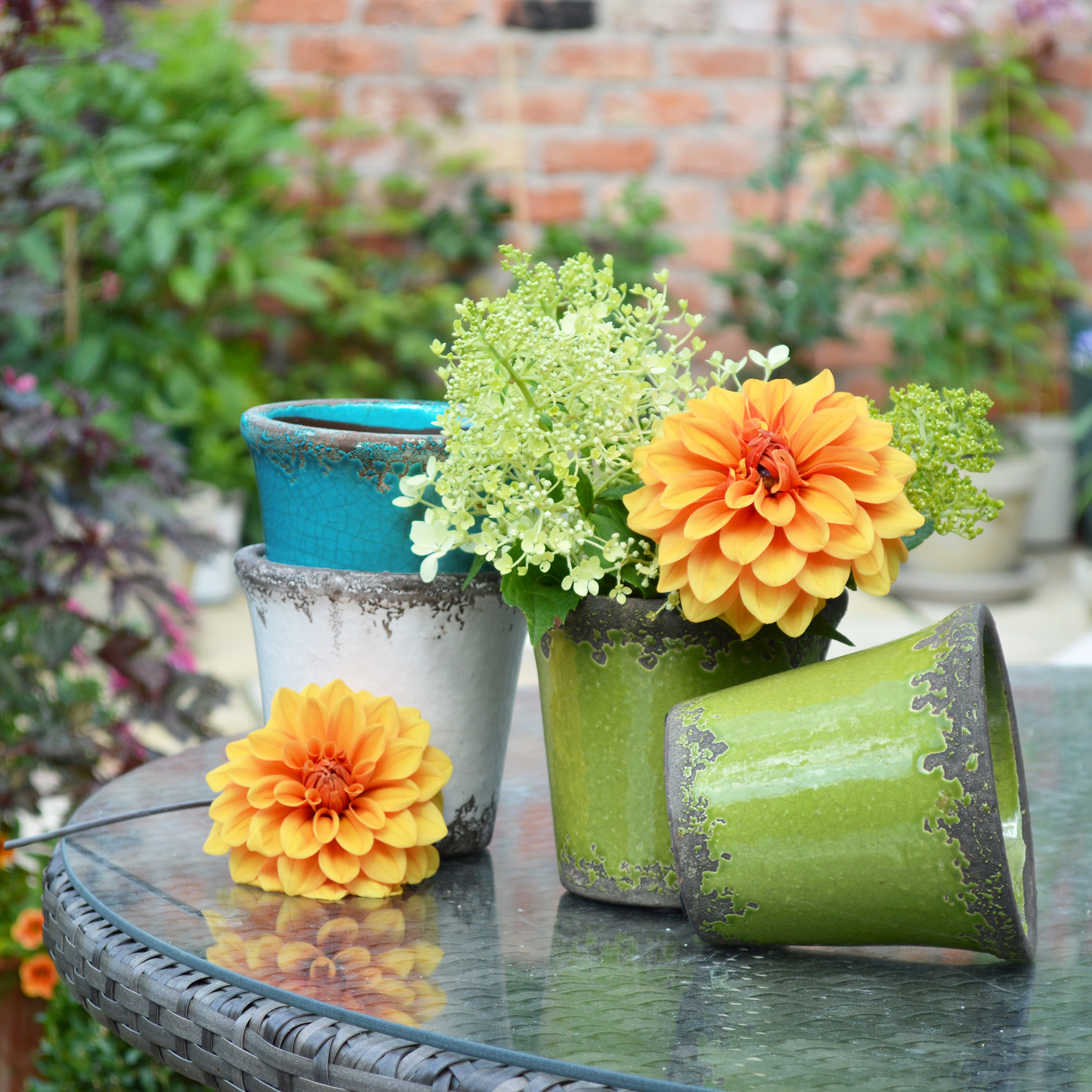 MiaFleur- Rustic Plant Pots £11.95 each by Nordal (available in 5 colours) (3)