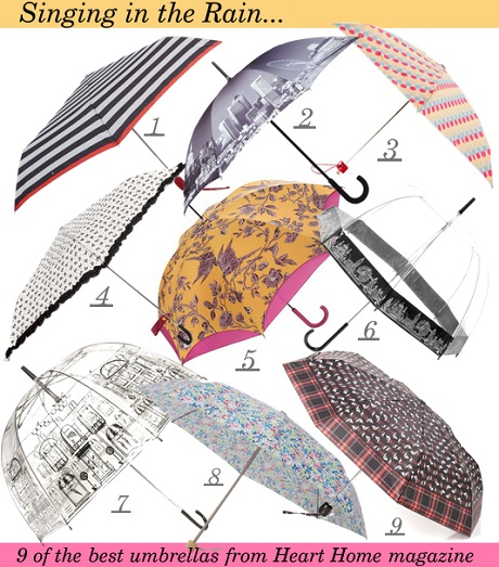Nine of the best umbrellas from Heart Home magazine.