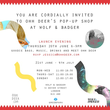 Ohh Deer W&B Pop-Up Invite