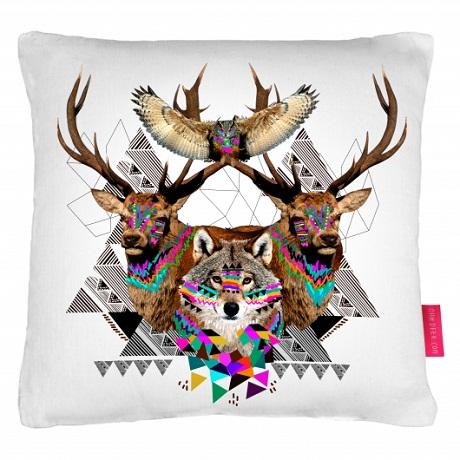 Ohh Deer W&B Pop-Up - cushion kris tate