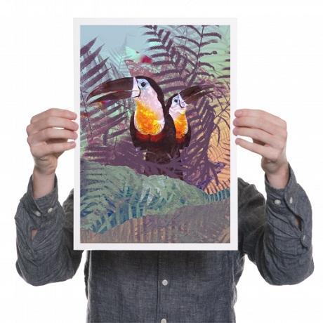 Ohh Deer W&B Pop-Up - toucan print drew turner