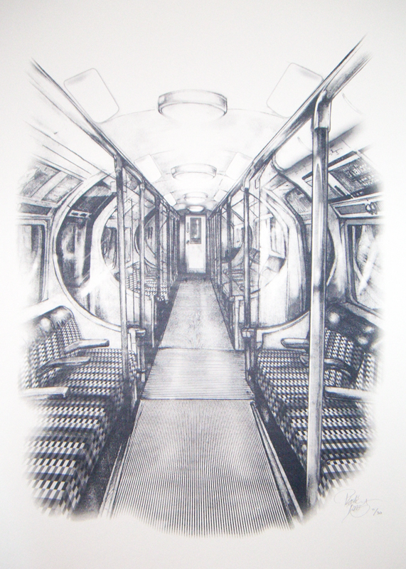Last Train Home print by Plastic Bones