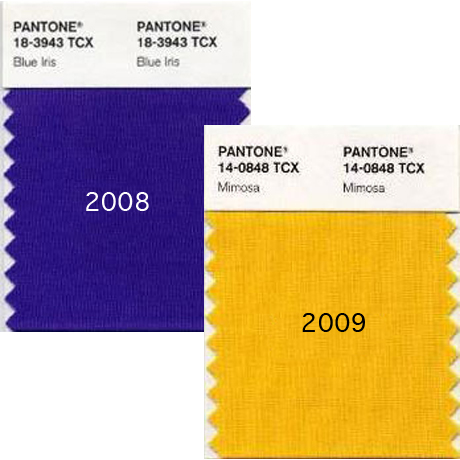 Pantone Colours of the Year 2008-2009