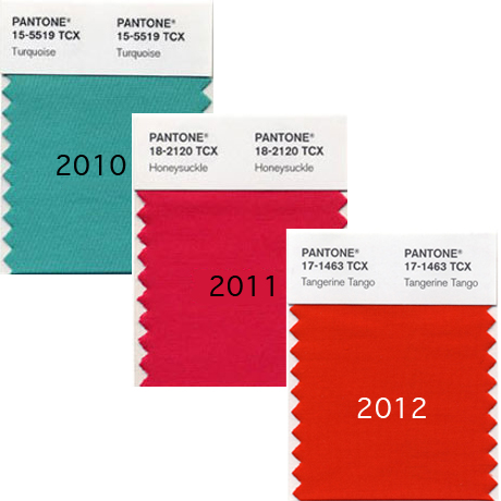 Pantone Colours of the Year 2010-2012
