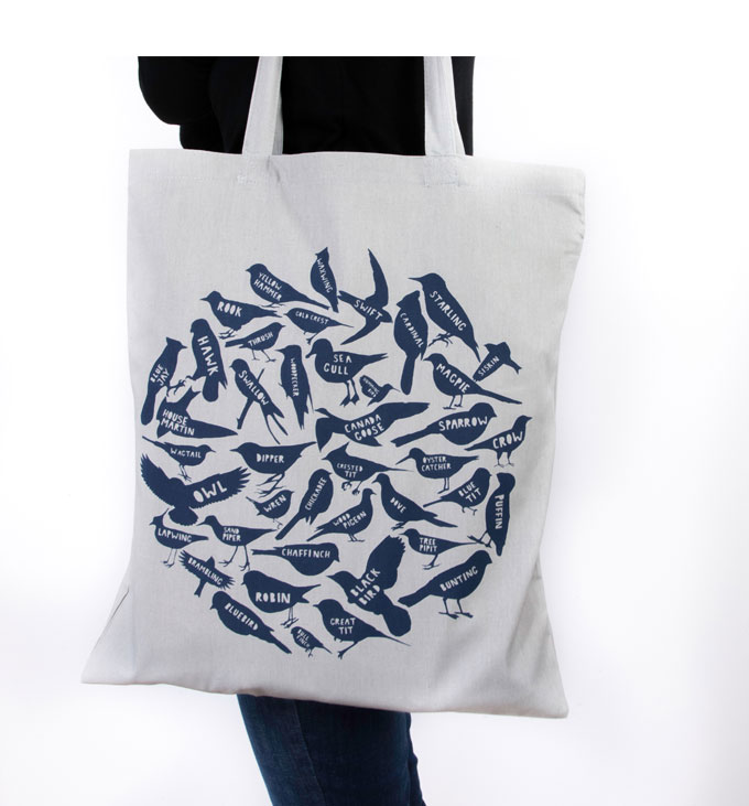 Particle Press Birds Nest tote bag