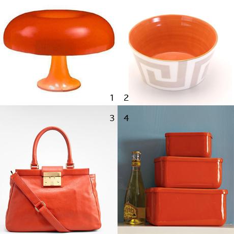 Pantone colour of the year_Tangerine Tango accessories