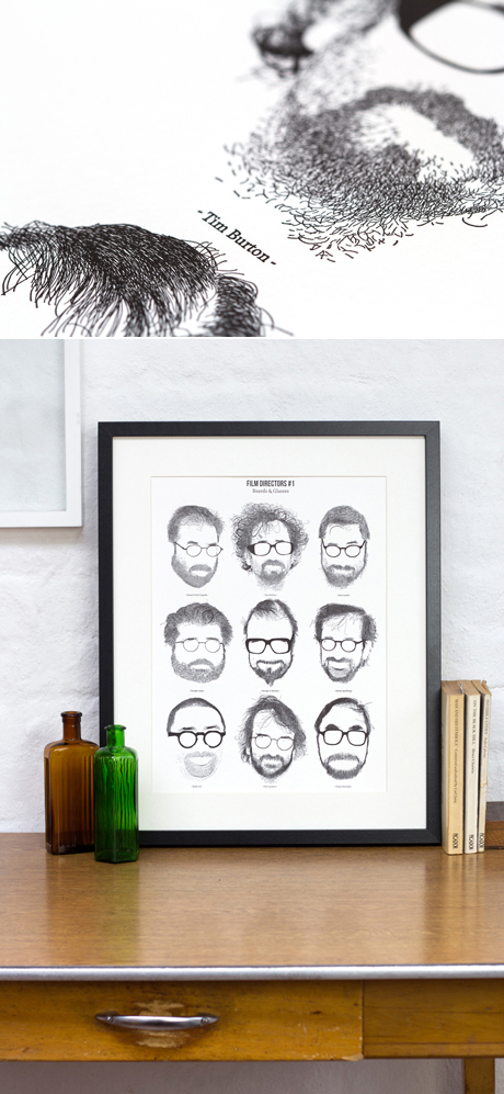 Film Directors no.1 Print: Beards and Glasses