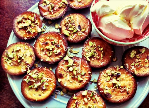 Honey and Pistachio Cakes