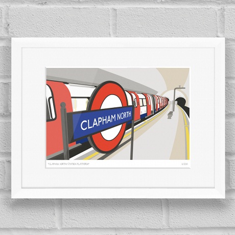 Places in Print - Clapham North Station Platform