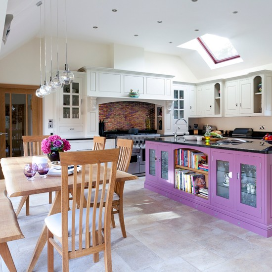 Plum-and-White-Kitchen-Diner-Beautiful-Kitchens-Housetohome