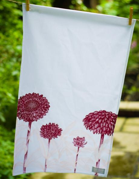 Red-Floral-Tea-Towel