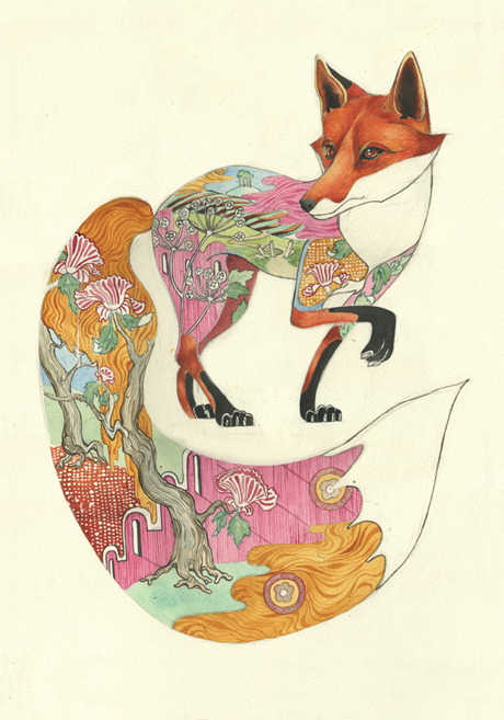 Red-fox-print-The-DM-Collection