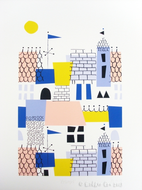 Rooftops print Esther Cox