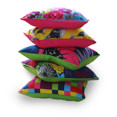 Sarah Jayne Guest stack of cushions