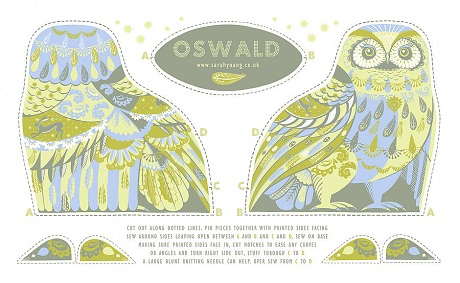 Sarah Young Tea Towels, Cloth Kits - Oswald