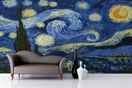 let your favourite artist inspire your decorating heart starry night mural