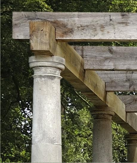 Stone pergola by Cavendish Stone