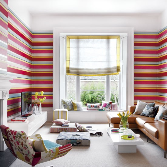 Striped-living-room