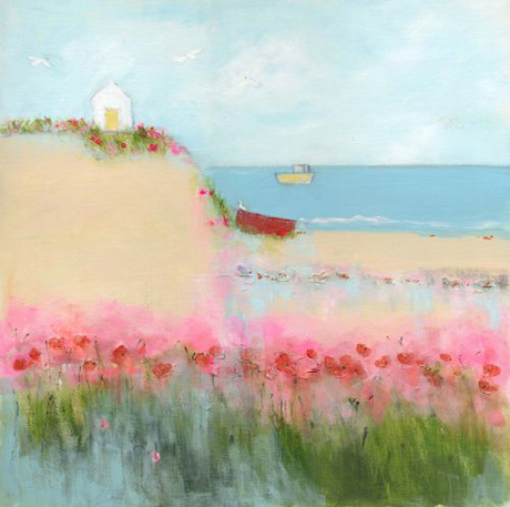 Sue Fenlon Poppies and seagulls