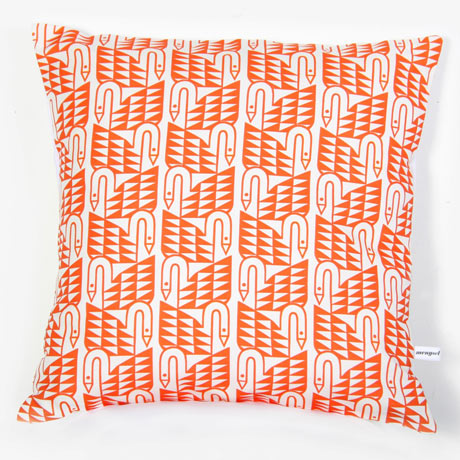 Swan-Cushion-In-Coral-Reef