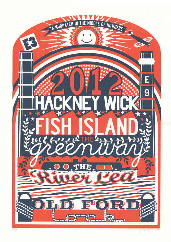 Hackney Wick print by James Brown