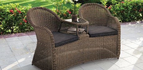 High Quality Perfect Wooden Garden Furniture Love Seats Terrace Tornio Twin