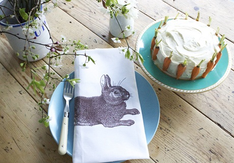 Thornback and Peel Rabbit and Cabbage Napkins