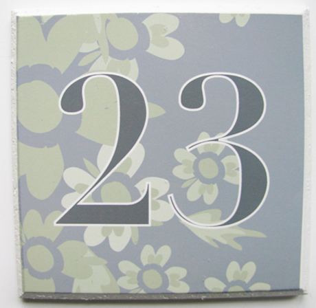 Tillie Mint House Number Plaques