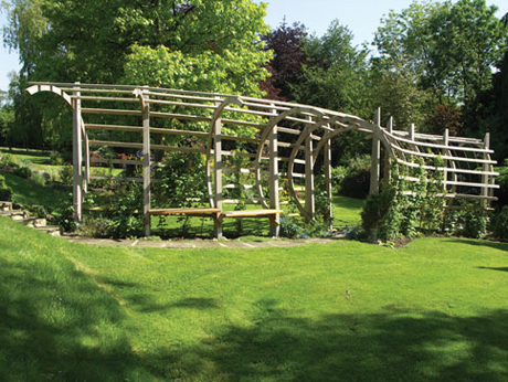 Timber pergola by Andrew Trotman
