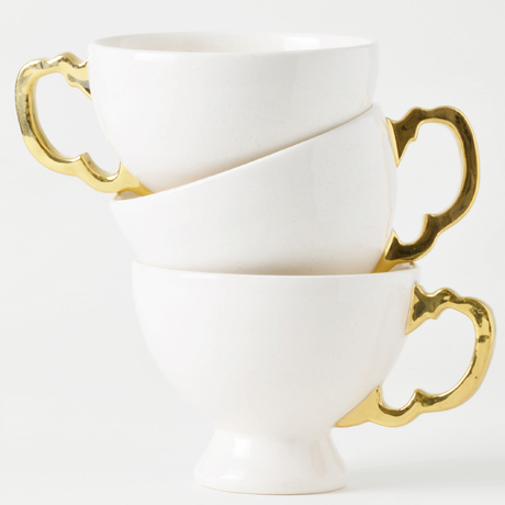 Timea Sido Teacup with gold handle