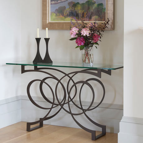 Versailles console table, Capricorn candlesticks