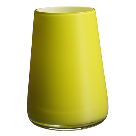 Villeroy and Boch's Numa vase in 'Fresh Lemon'