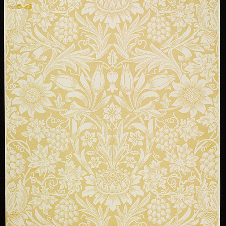 William Morris yellow wallpaper from the V&A