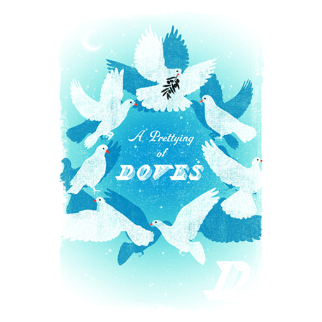 Woop Studio's Doves Christmas card