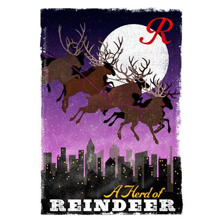 Woop Studio's Reindeer Christmas card
