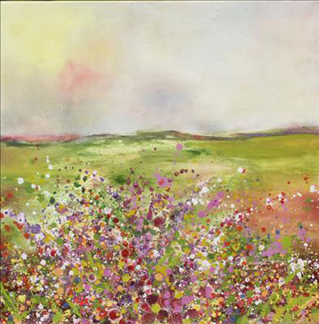 Yvonne-Coomber-Hedgerows-(Kaleidoscopic)-III-(2005)-Painting