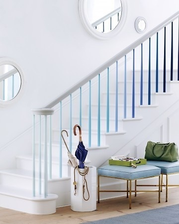 Ombre Banister/ stairwell