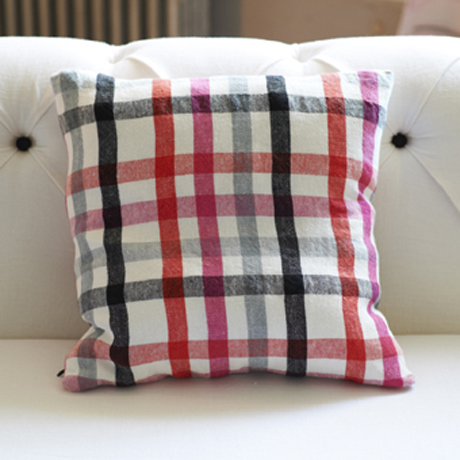 Brera Scacco Fuchsia Cushion from Designer's Guild