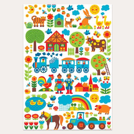 byGraziela Farm Yard kids poster