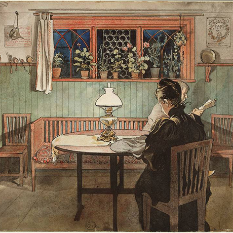 Detail from När barnen lagt sig (When The Children Have Gone To Bed) by Carl Larsson, 1894