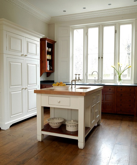 chalon - painted worktable and housekeepers cupboard
