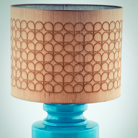 Rachel Powell etched veneer lighting