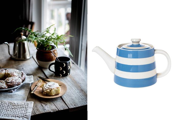 Cornishware Rosie Teapot John Lewis
