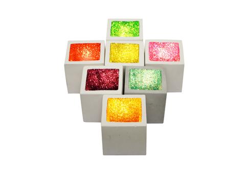 edc glitter candles