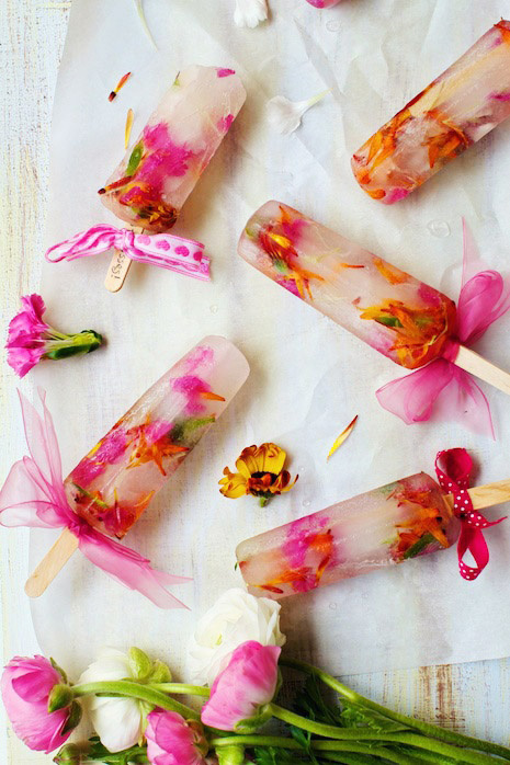 flower ice lollies