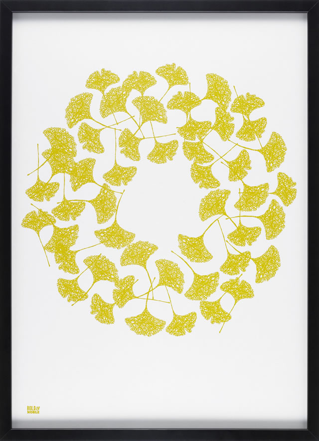 gingko screenprint from bold and noble