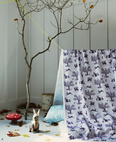 Hibou Home Fabric Enchanted Wood