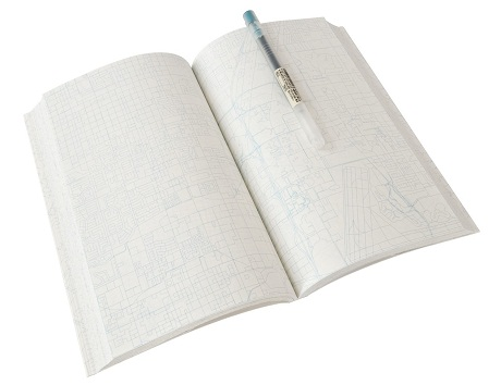 hirst and hirst urban gridded notebook - inside