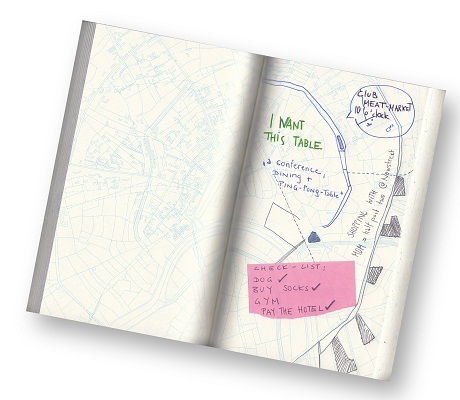 hirst and hirst urban gridded notebook - inside with notes