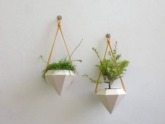Diamond hanging planter from RawDezign
